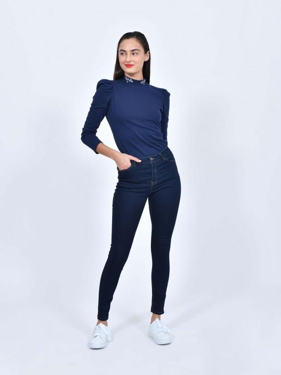 Jeans Tiro Medio Skinny | CCP