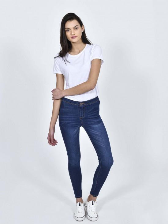 Jeans Skynny Tiro Alto | CCP
