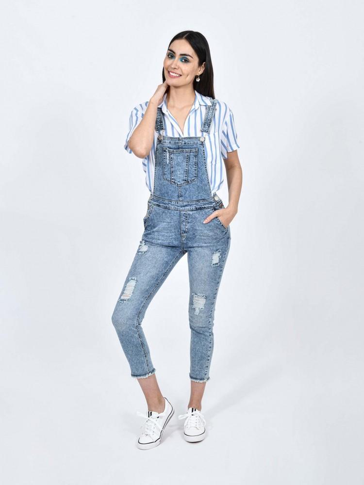 Jeans Overol Acid Wash | CCP