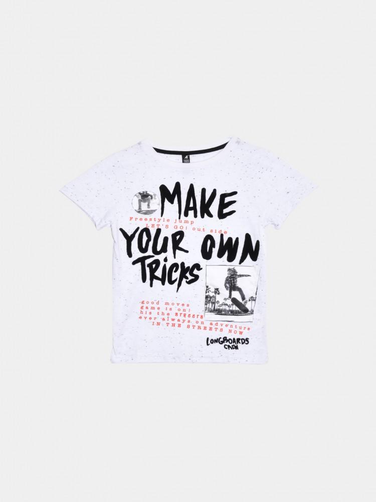 Playera Cuello Redondo Texto 'Make Your Own Tricks' | CCP