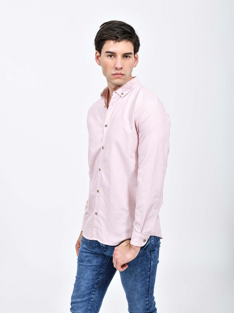 Camisa Rosa Manga Larga | CCP