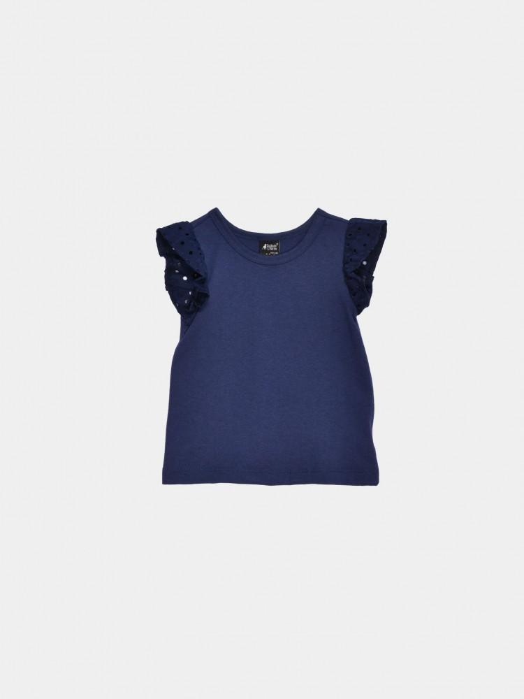 Blusa Azul Marino Eyelet | CCP