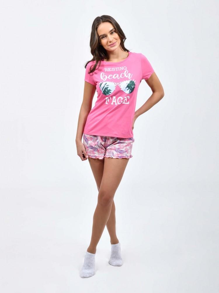 Pijama Short Mc Palmeras Lentes | CCP