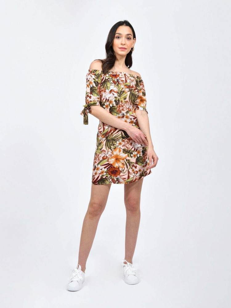 Vestido Casual Corto Print Tropical | CCP