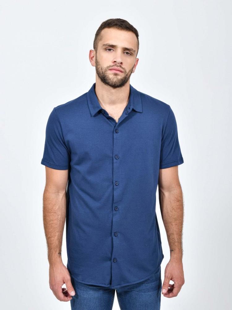 Camisa Azul Cuello Clásico | CCP