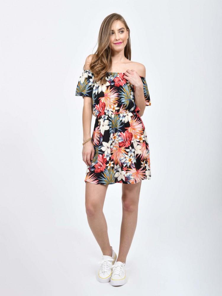 Vestido de Moda Print Tropical | CCP