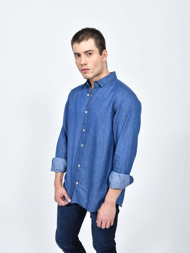 Camisa Denim Manga Larga | CCP