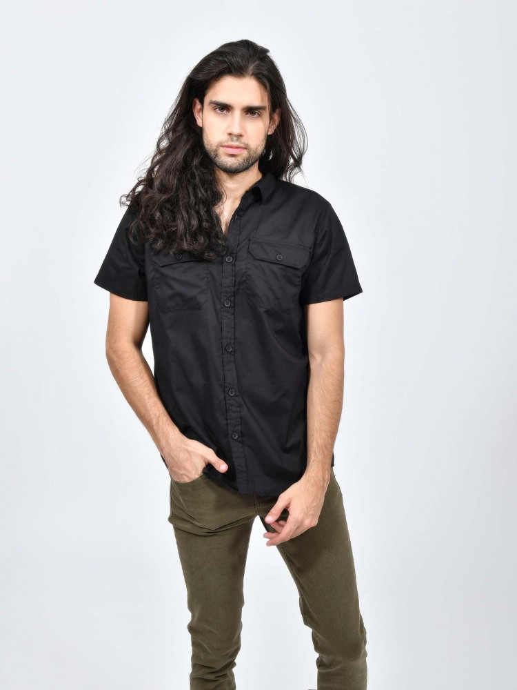 Camisa Bolsillos Manga Corta | CCP