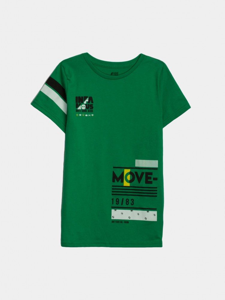 Playera Verde Estampado 'Move' | CCP
