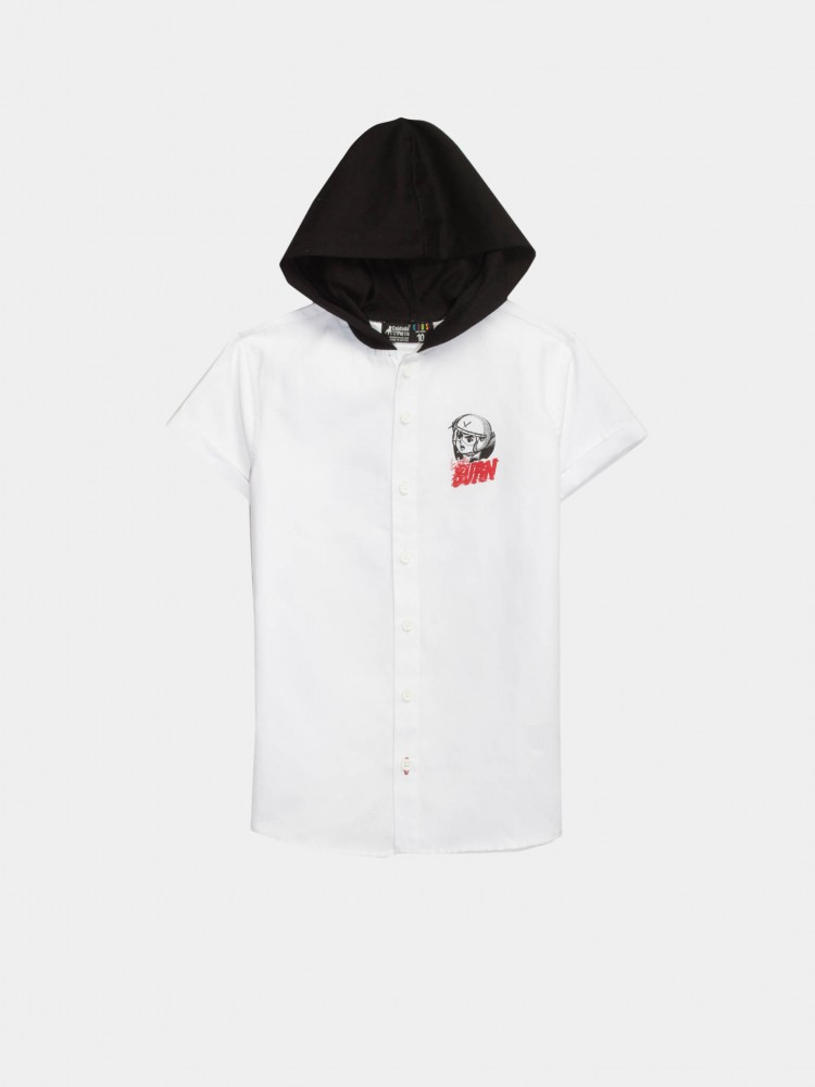 Camisa Blanca con Capucha 'Burn' | CCP