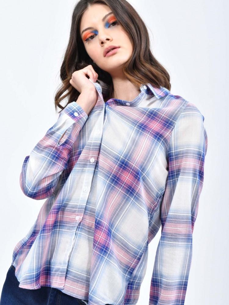 Blusa Cuadros Cuello Clásico | CCP
