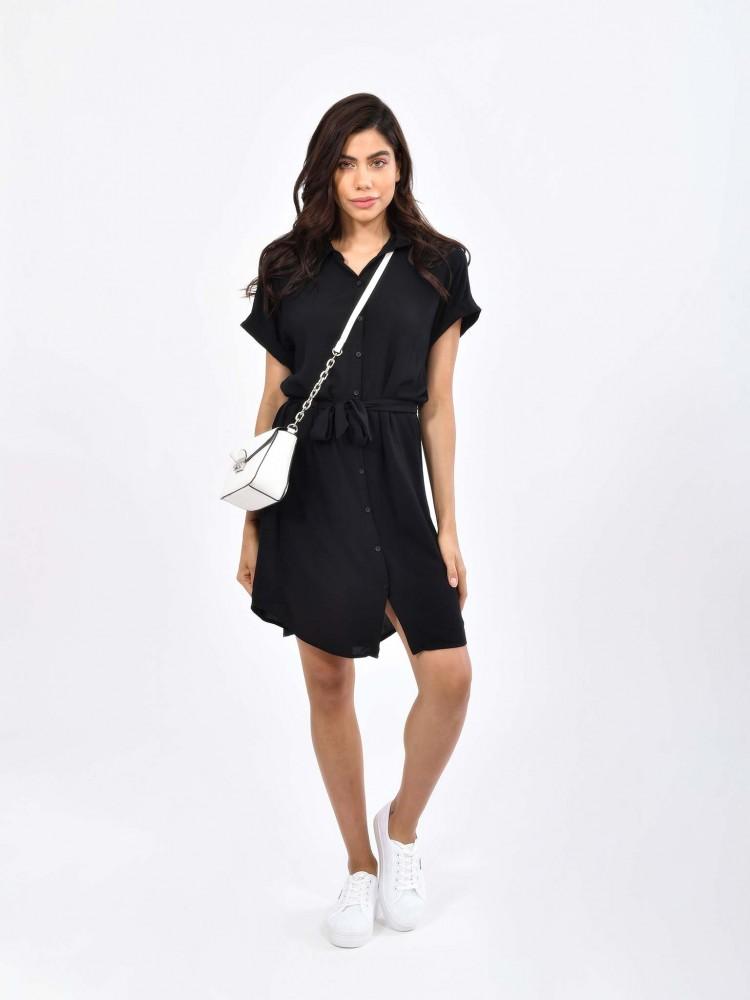Vestido Negro Cuello Clásico | CCP