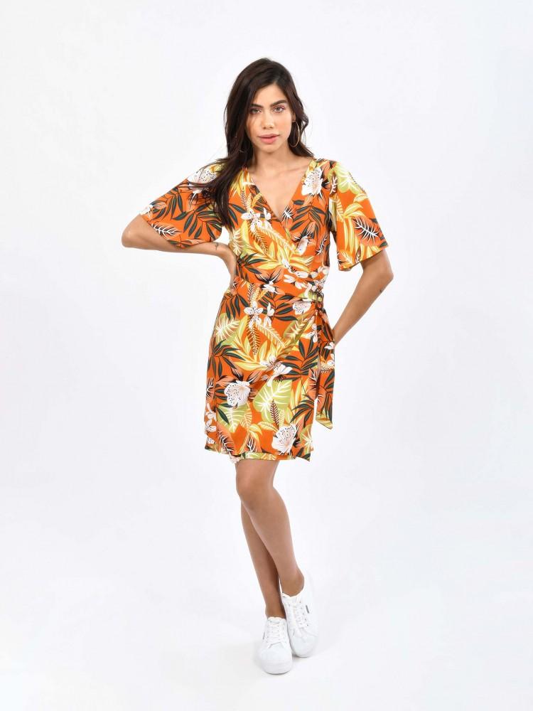Vestido Casual Print Tropical | CCP