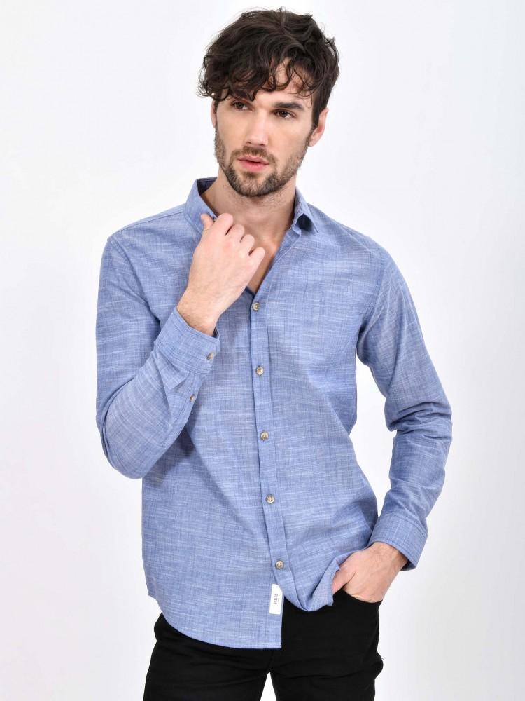 Camisa Azul Manga Larga | CCP