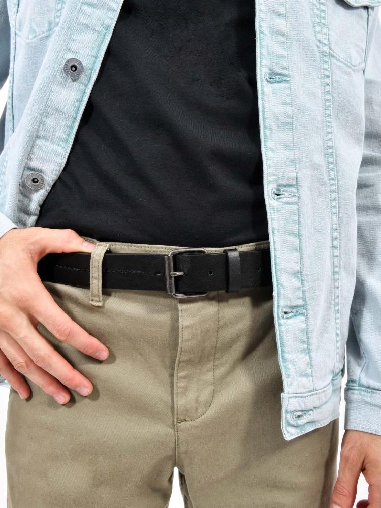 Cinturón Casual Negro con Pespunte | CCP
