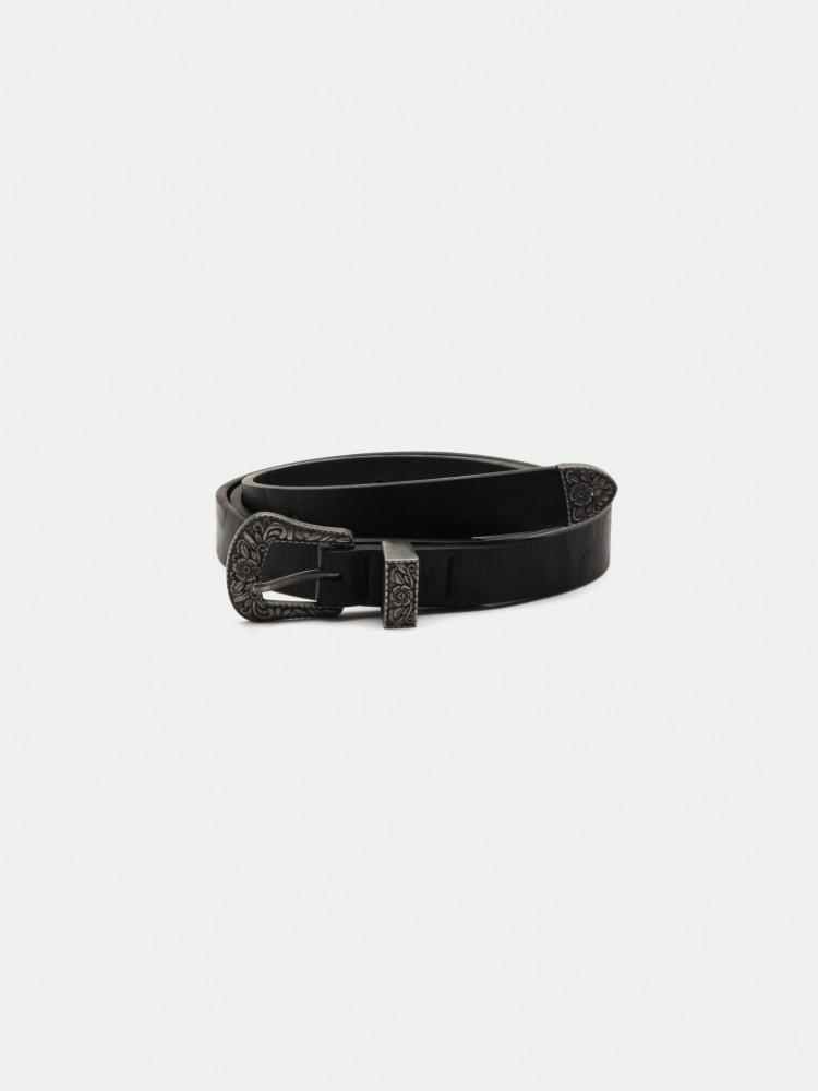 Cinturón Negro con Hebilla Western | CCP