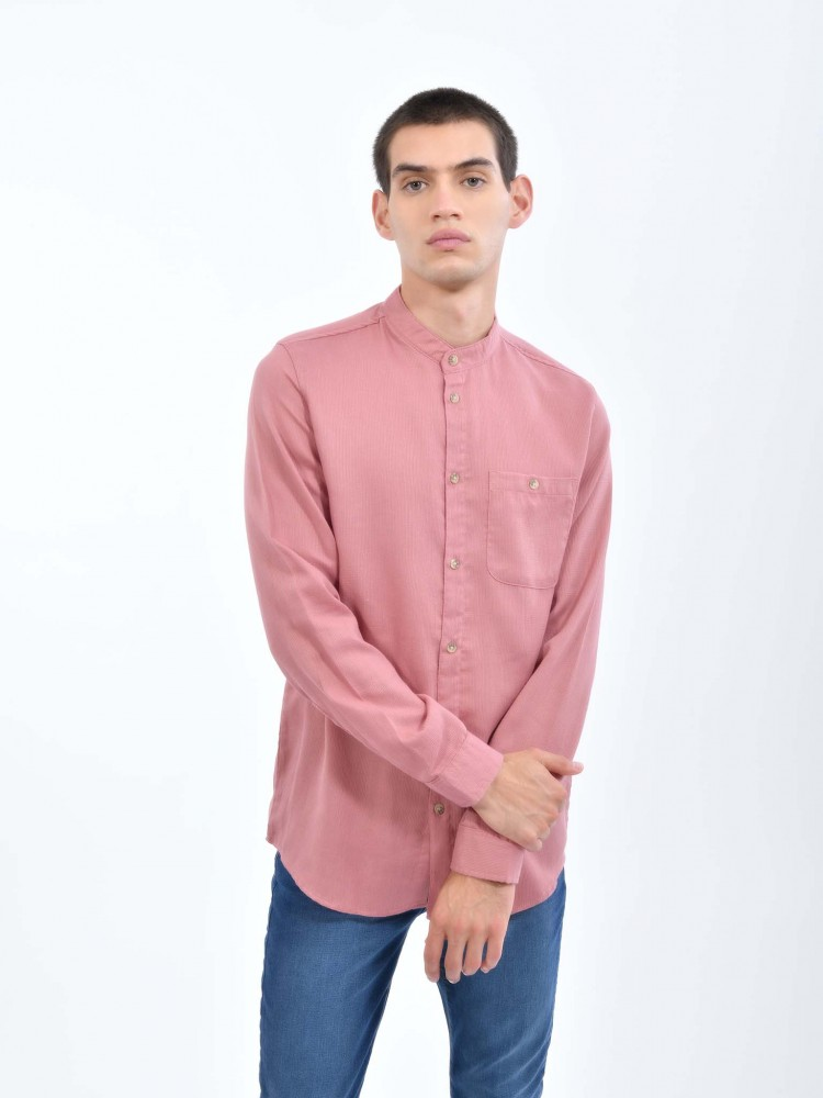 Camisa Rosa Cuello Mao | CCP
