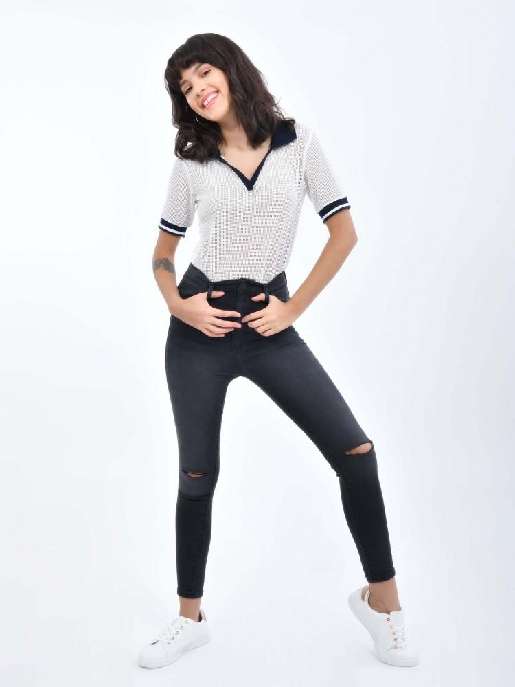 Jeans Skinny Desgarres   CCP