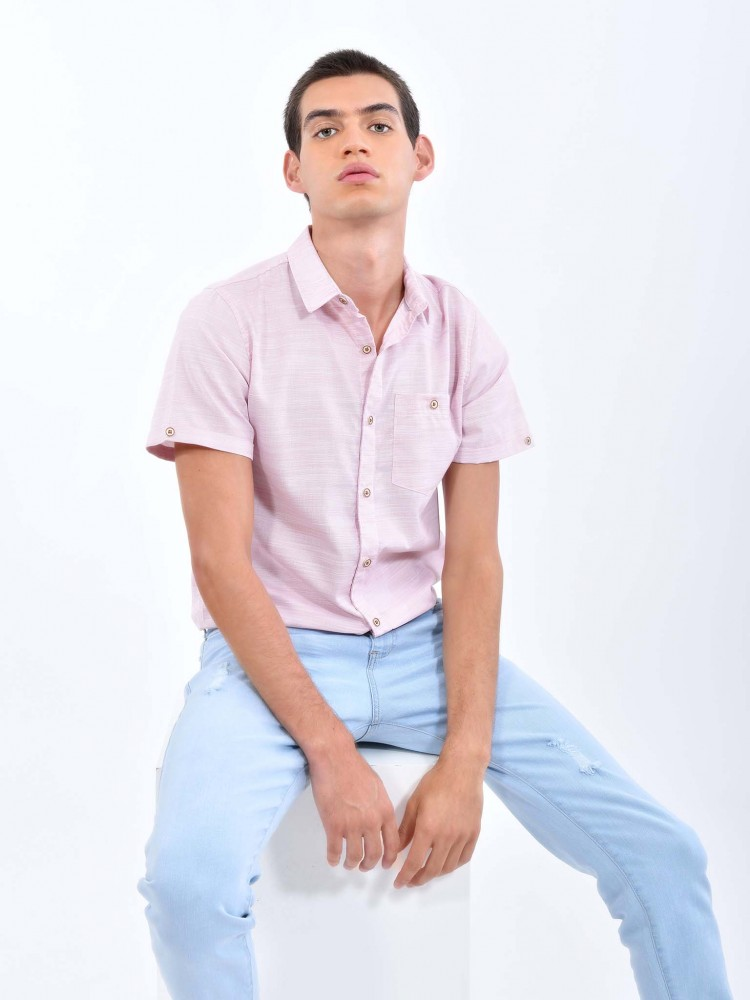Camisa Rosa Cuello Clásico | CCP