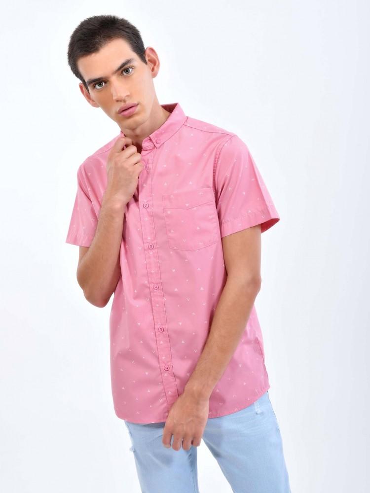 Camisa Rosa Estampado Grecas | CCP