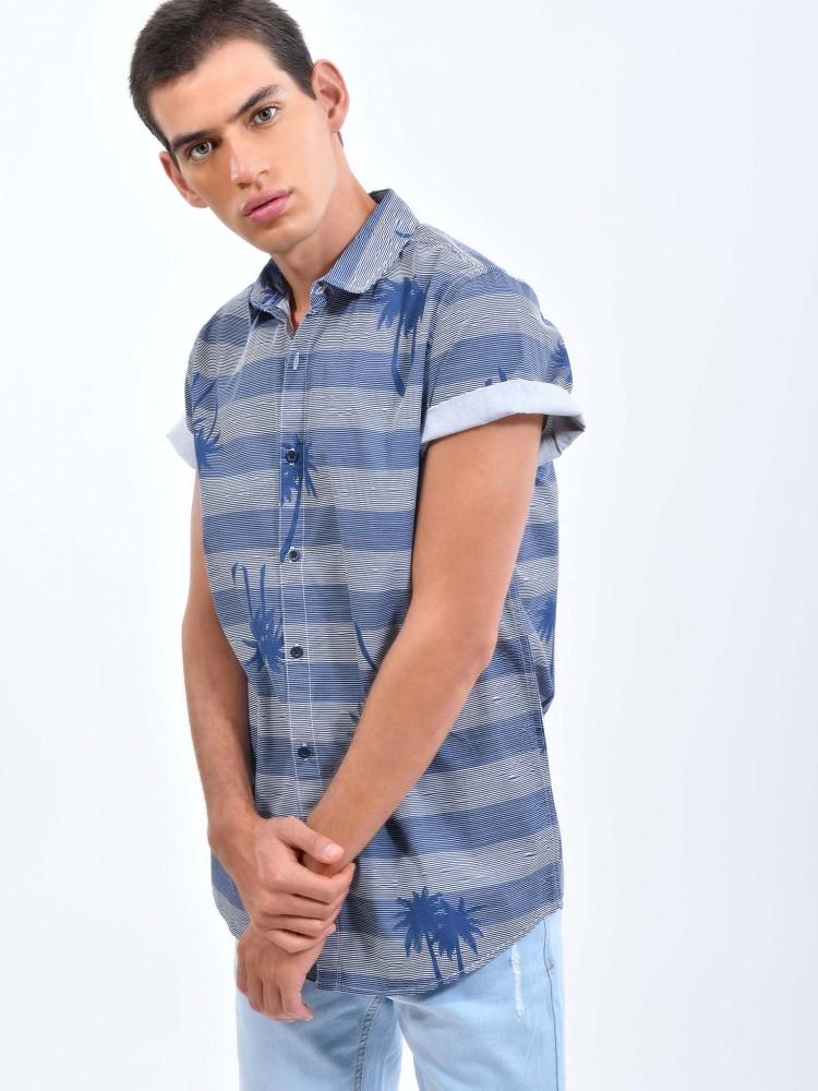 Camisa Cuello Clásico Estampado Palmeras | CCP