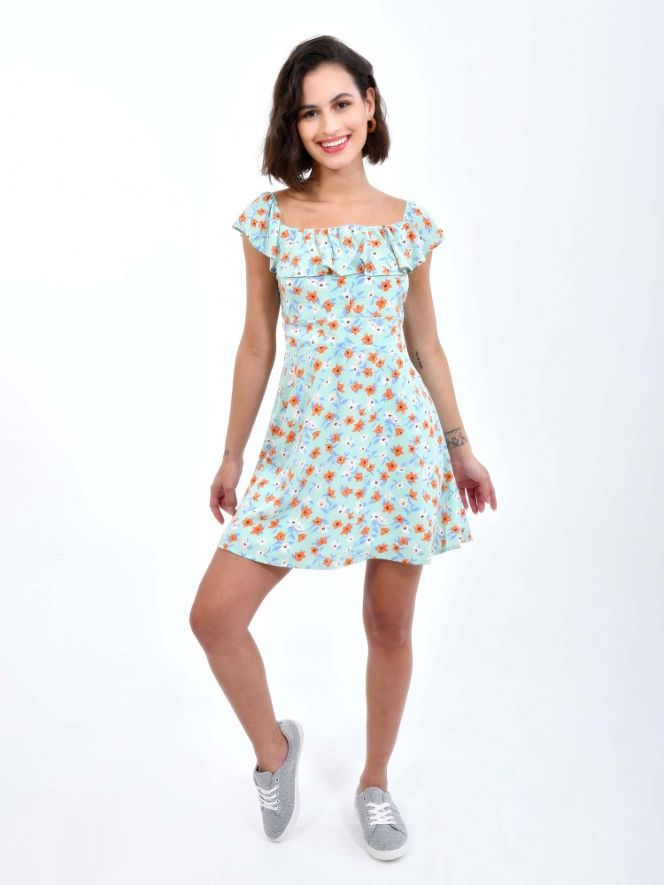 Vestido Floral Hombros Descubiertos | CCP