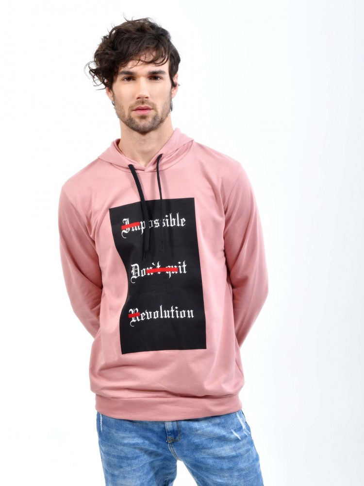 Sudadera Rosa 'Imposible Don't Quit Revolution' | CCP