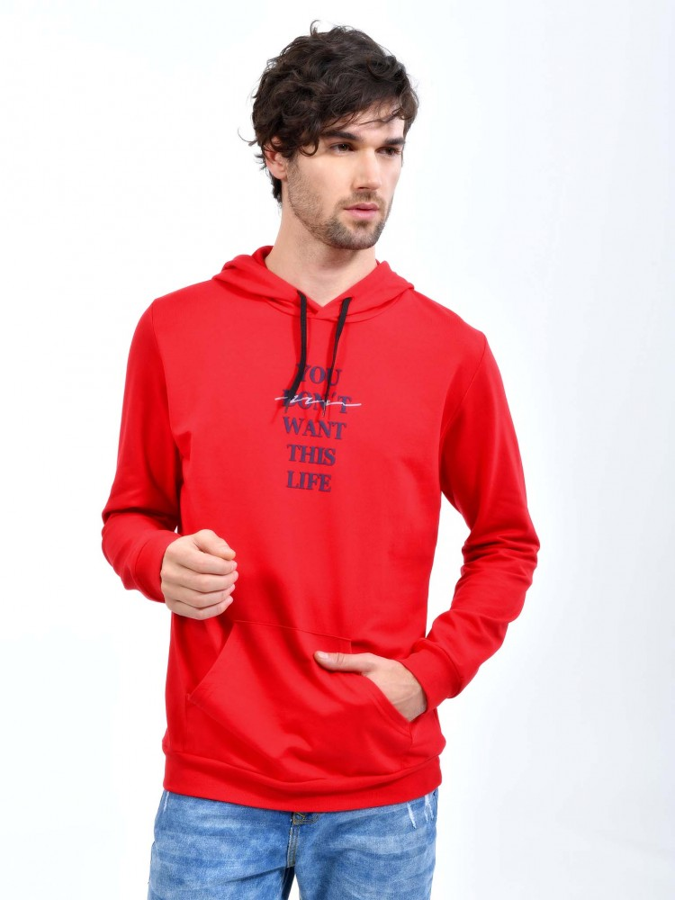 Sudadera Roja con Capucha 'You Don't Want This Life | CCP