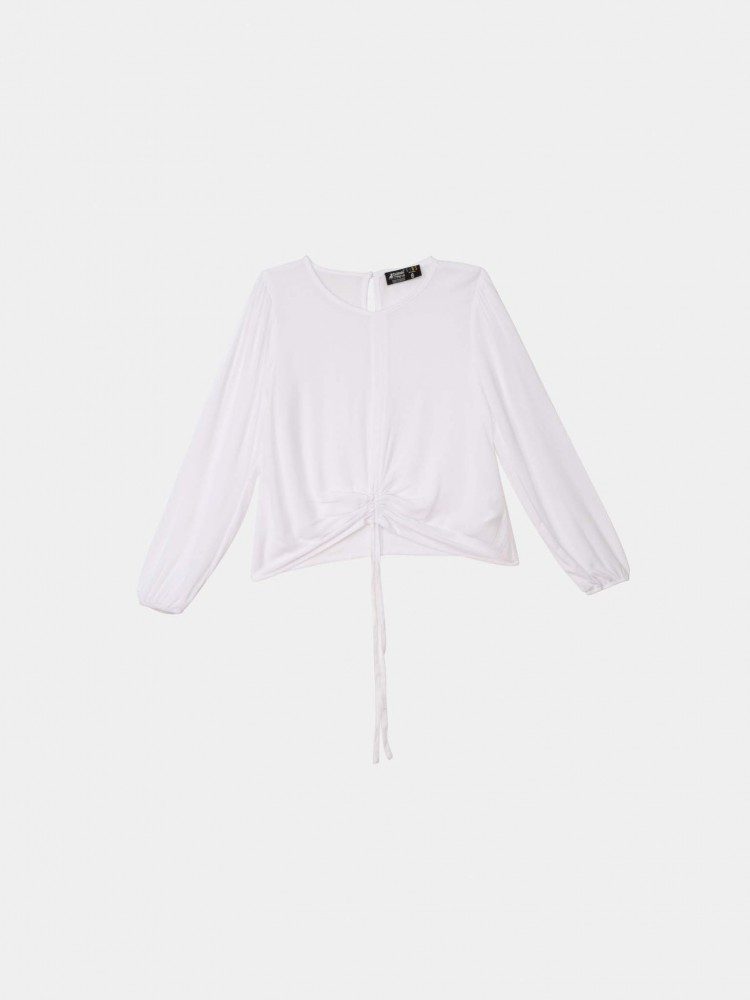 Blusa Blanca Manga Larga | CCP