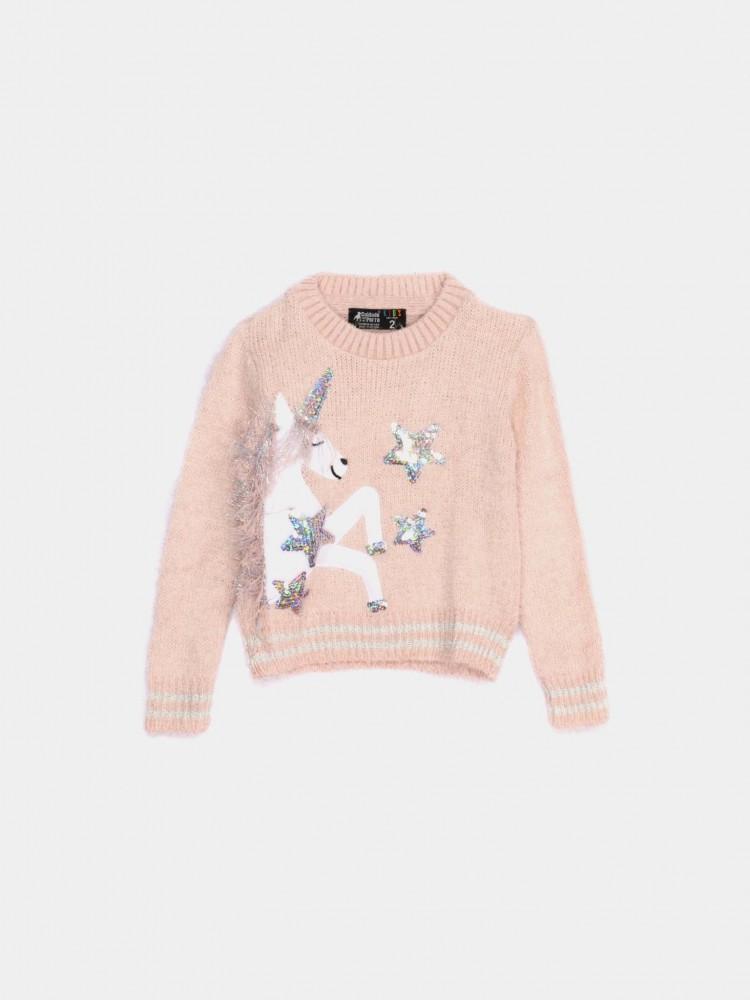 Suéter de Peluche Bordado Unicornio   CCP