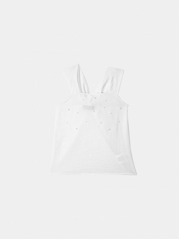 Blusa Blanca de Tirantes | CCP