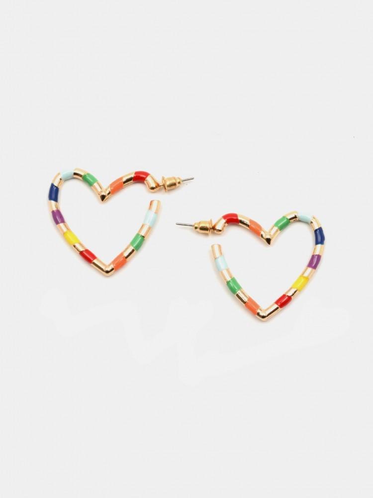 Aretes Corazón Multicolor | CCP