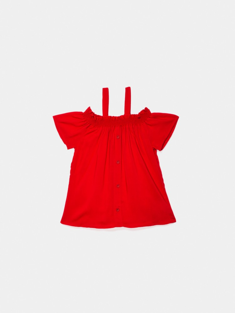 Blusa Roja Hombros Descubiertos | CCP