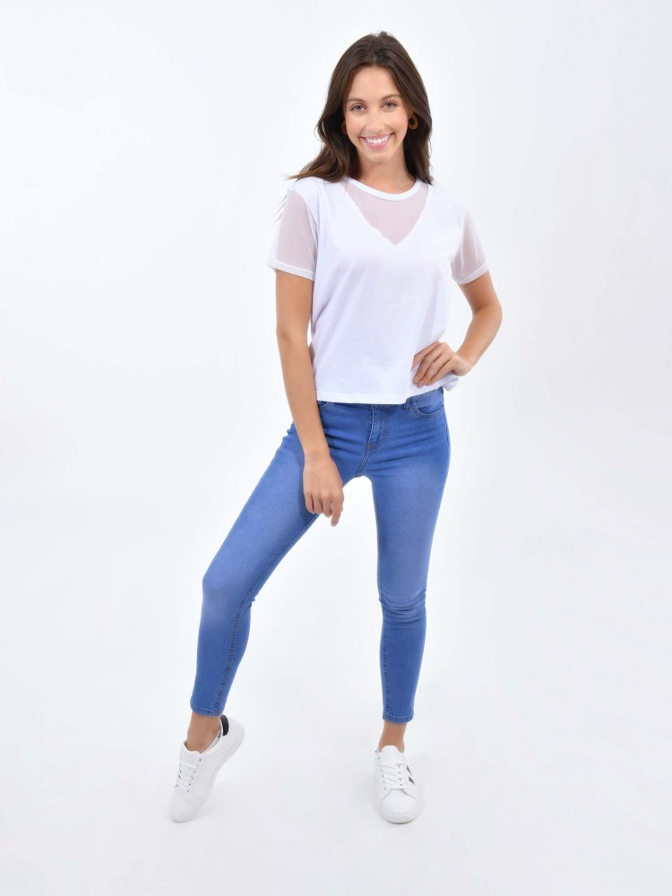 Jeans Skinny Tiro Medio | CCP
