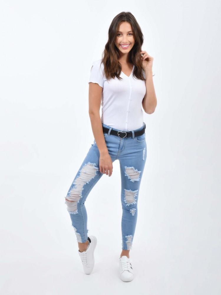 Jeans Skinny Desgarres | CCP