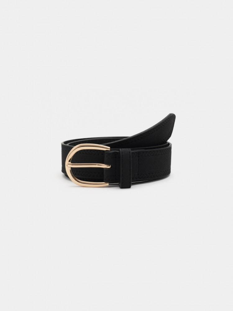 Cinturón Negro Hebilla Dorada | CCP