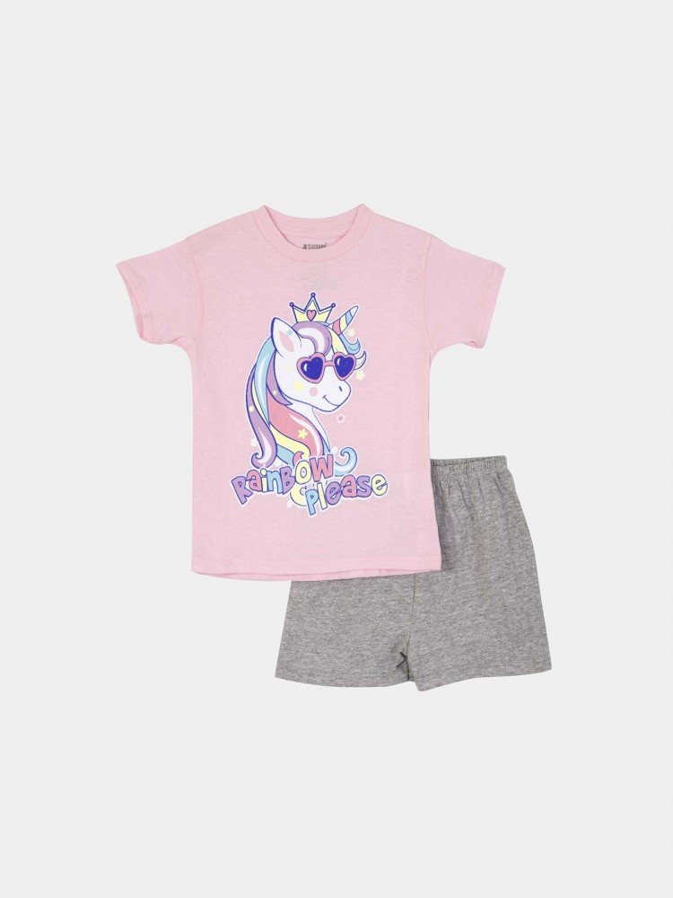 Conjunto Short Estampado Unicornio | CCP