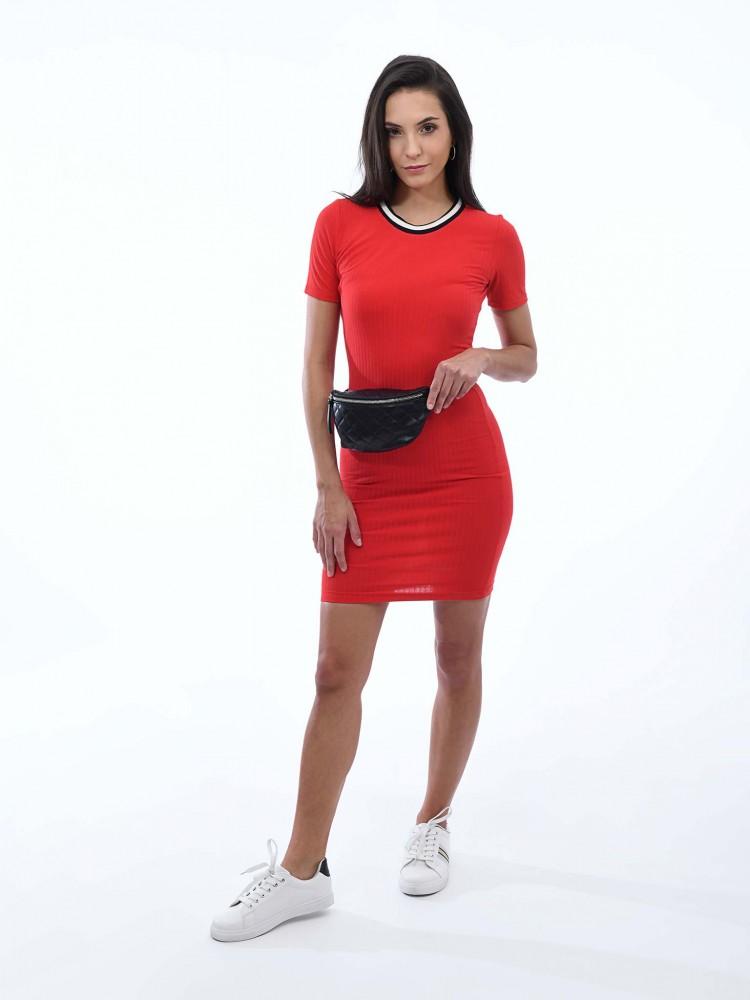 Vestido Casual Rib Rojo | CCP